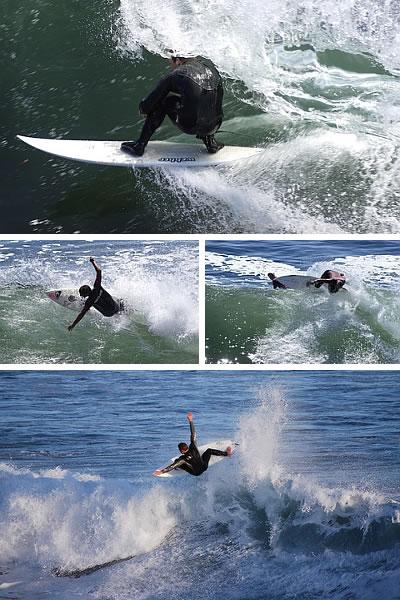 Steamer Lane Surfing, in California