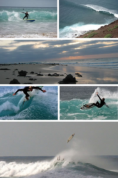 Surfing in Fuerteventura Spain