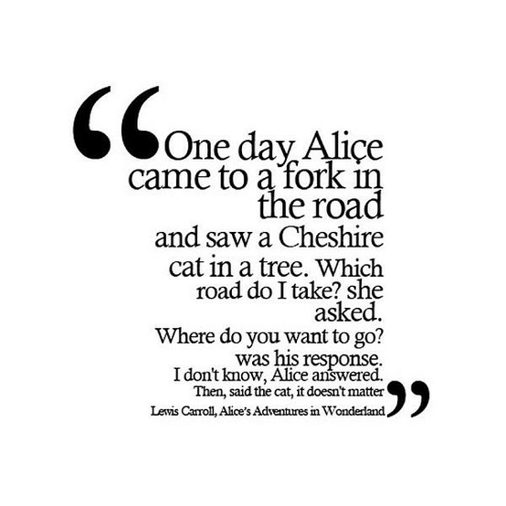 alice's adventures in wonderland by lewis carroll quote made by thimble.